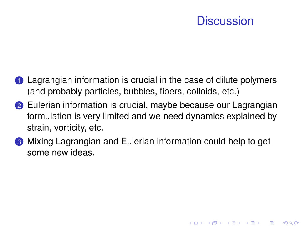 Discussion . . 1 Lagrangian information is cruc...