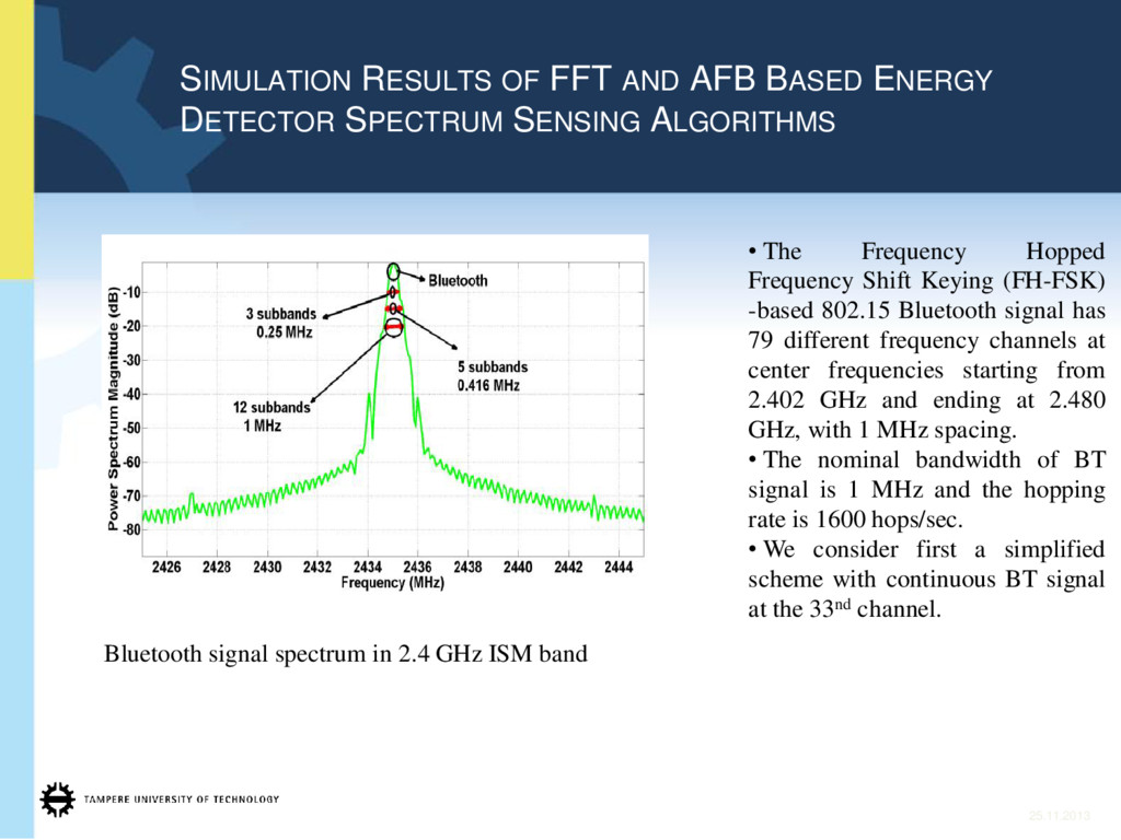 SIMULATION RESULTS OF FFT AND AFB BASED ENERGY ...