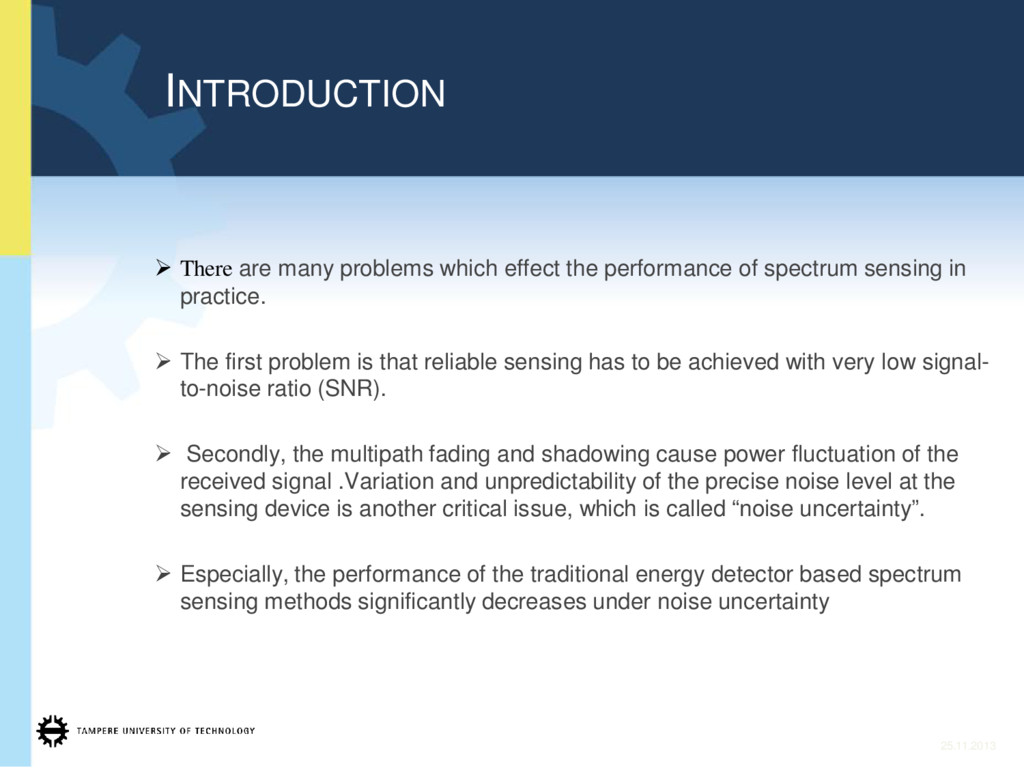¾ There are many problems which effect the perf...