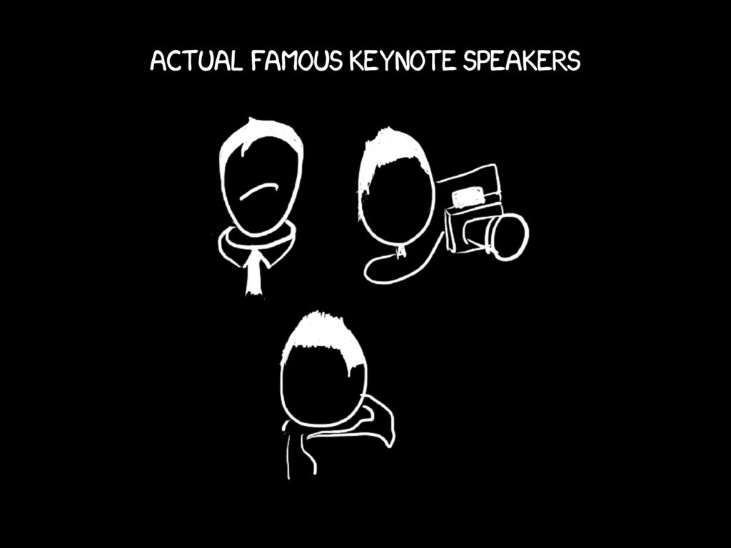 Actual famous keynote speakers