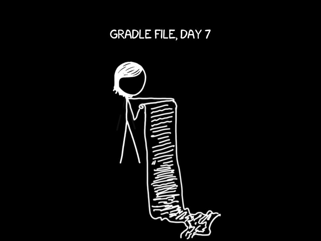 gradle file, day 7