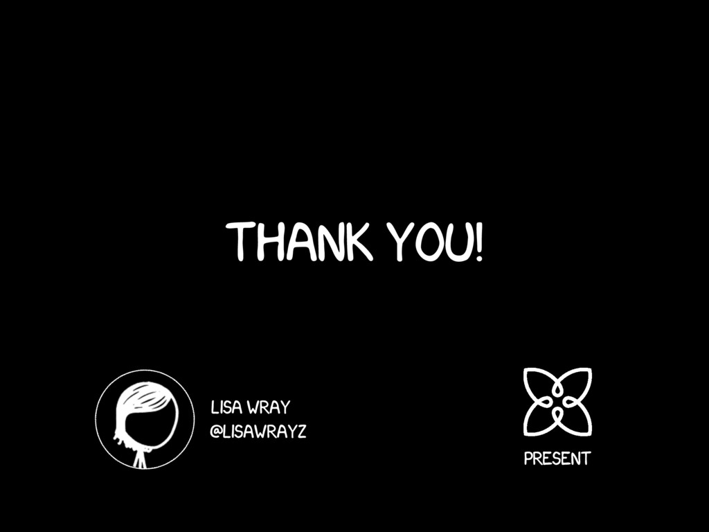 Thank you! Lisa wray @lisawrayz Present