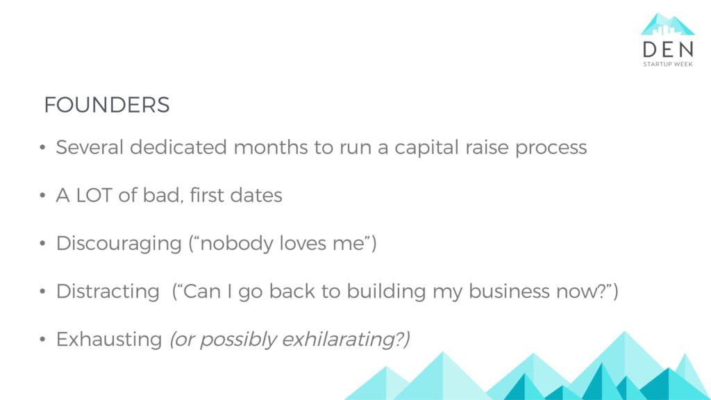 • Several dedicated months to run a capital rai...