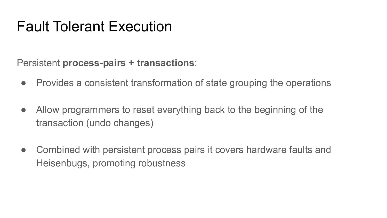 Fault Tolerant Execution Persistent process-pai...