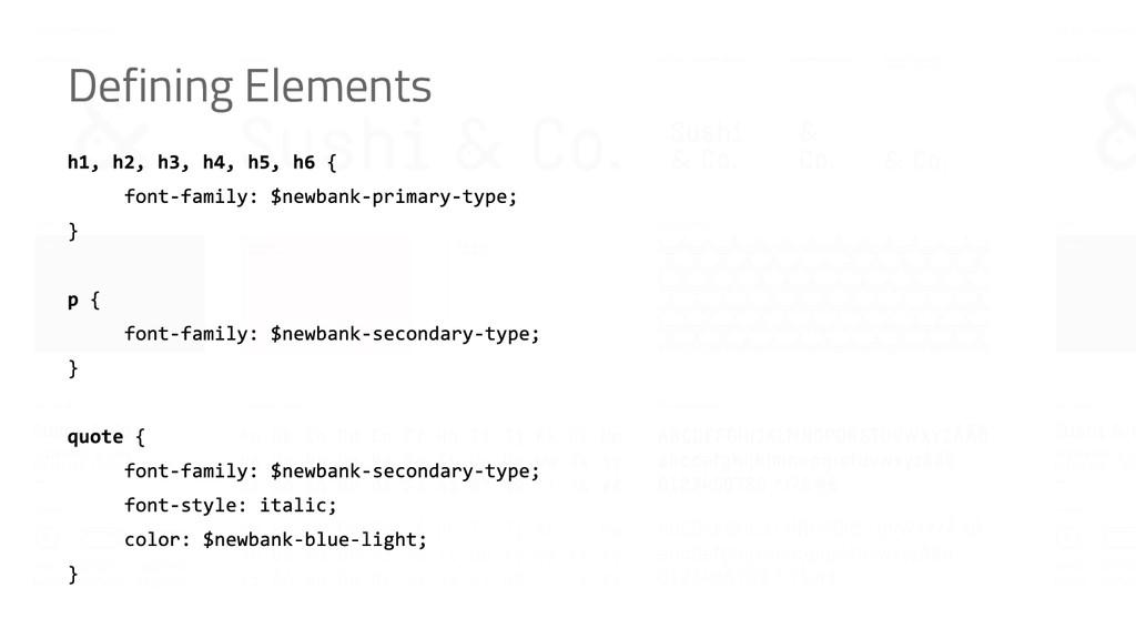 Defining Elements