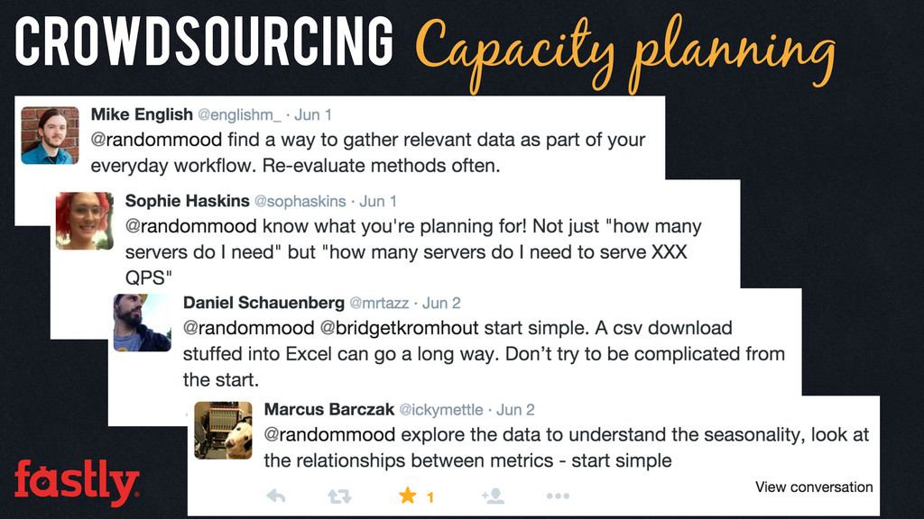 Crowdsourcing Capacity planning