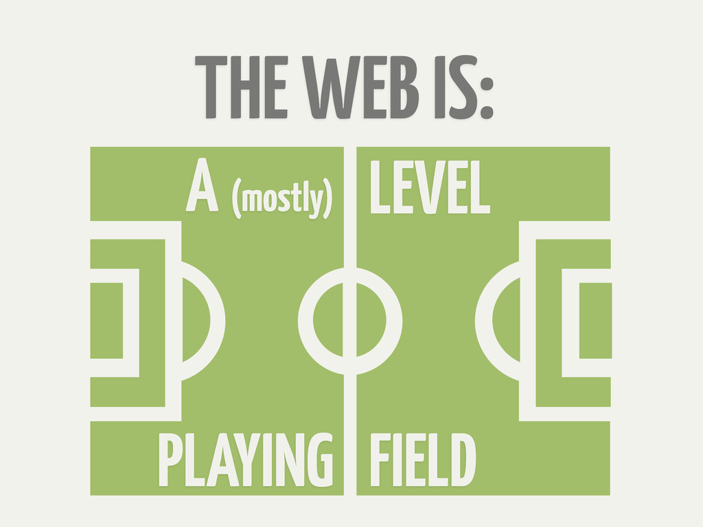 THE WEB IS: LEVEL A (mostly) FIELD PLAYING