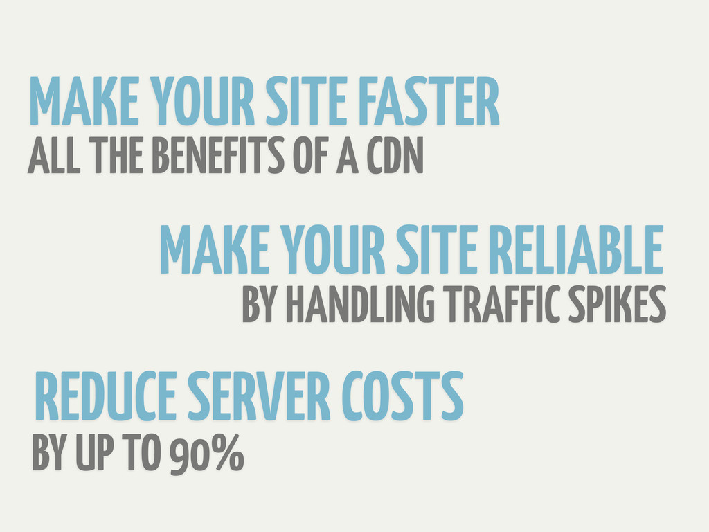 BY UP TO 90% BY HANDLING TRAFFIC SPIKES REDUCE ...