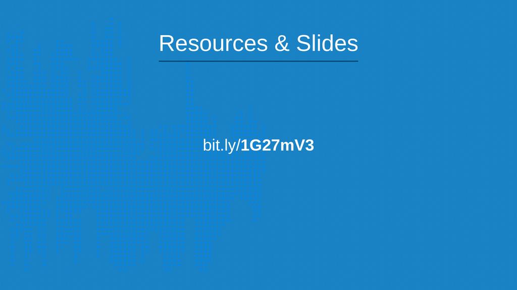 bit.ly/1G27mV3 Resources & Slides