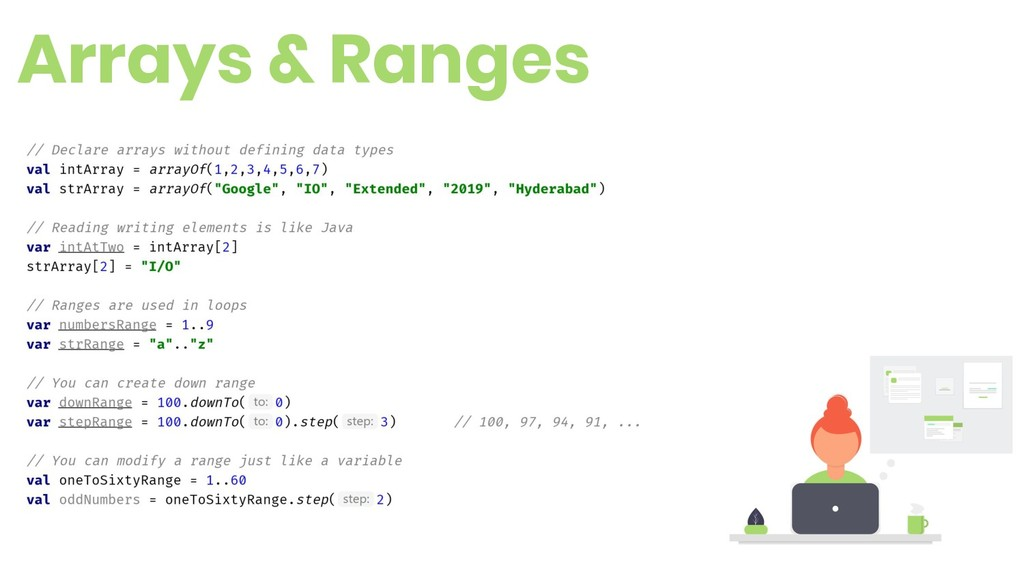 Arrays & Ranges 7