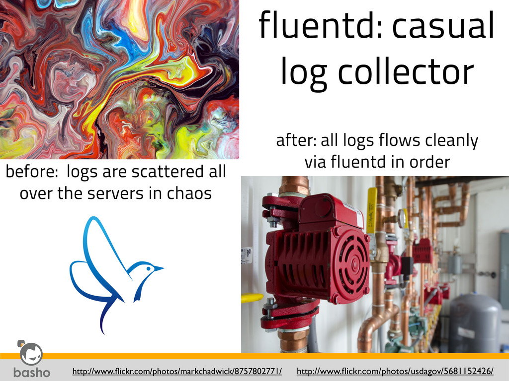 fluentd: casual log collector http://www.flickr....