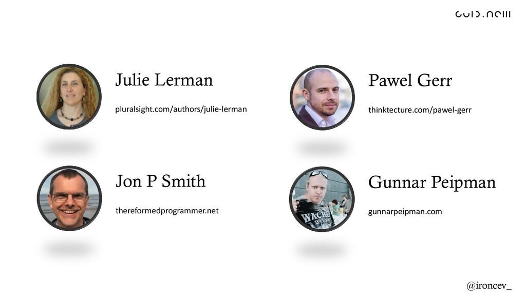 Jon P Smith thereformedprogrammer.net Pawel Ger...