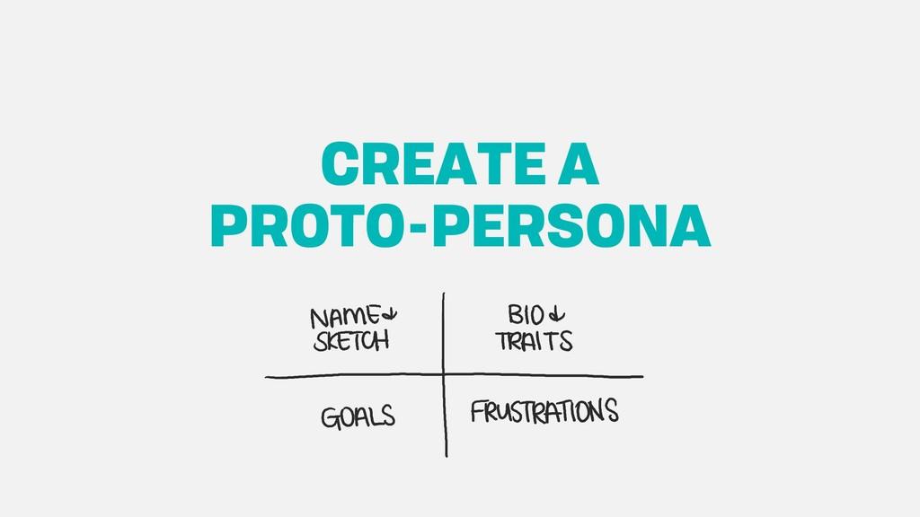 CREATE A PROTO-PERSONA