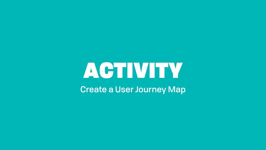 ACTIVITY Create a User Journey Map