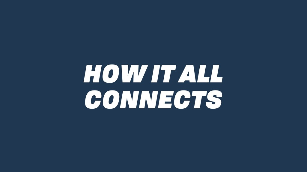 HOW IT ALL CONNECTS