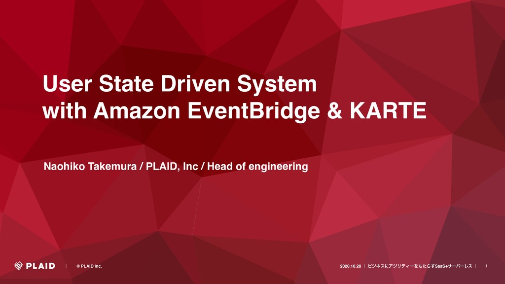 1 User State Driven System with Amazon EventBri...