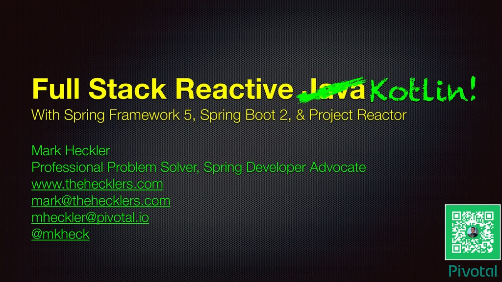 Full Stack Reactive Java With Spring Framework ...
