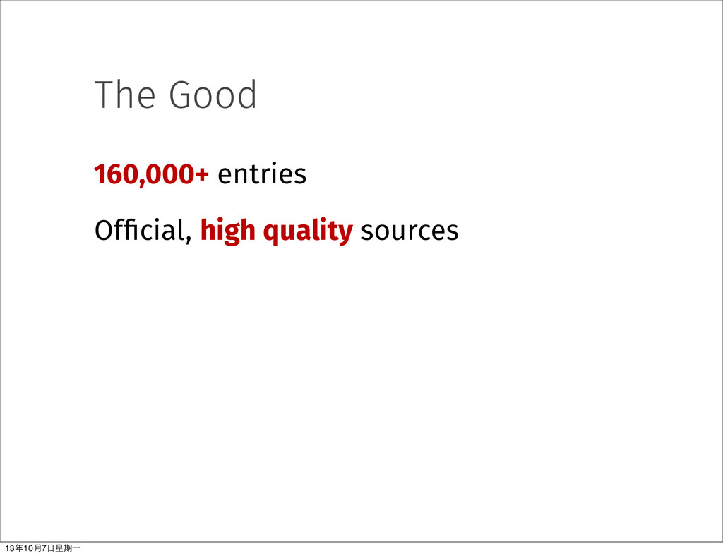 The Good 160,000+ entries Official, high qualit...
