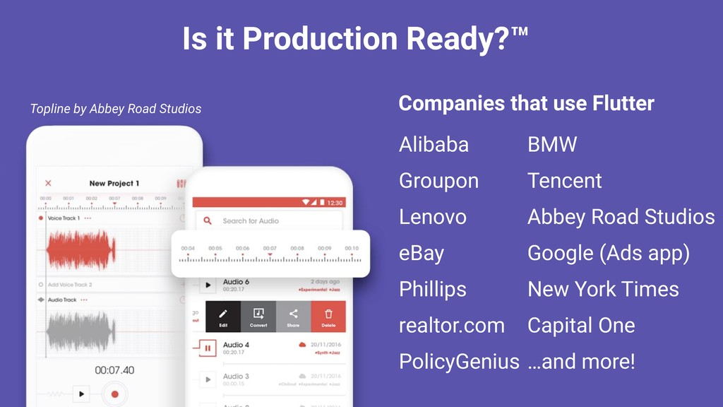 Is it Production Ready?™ Companies that use Flu...