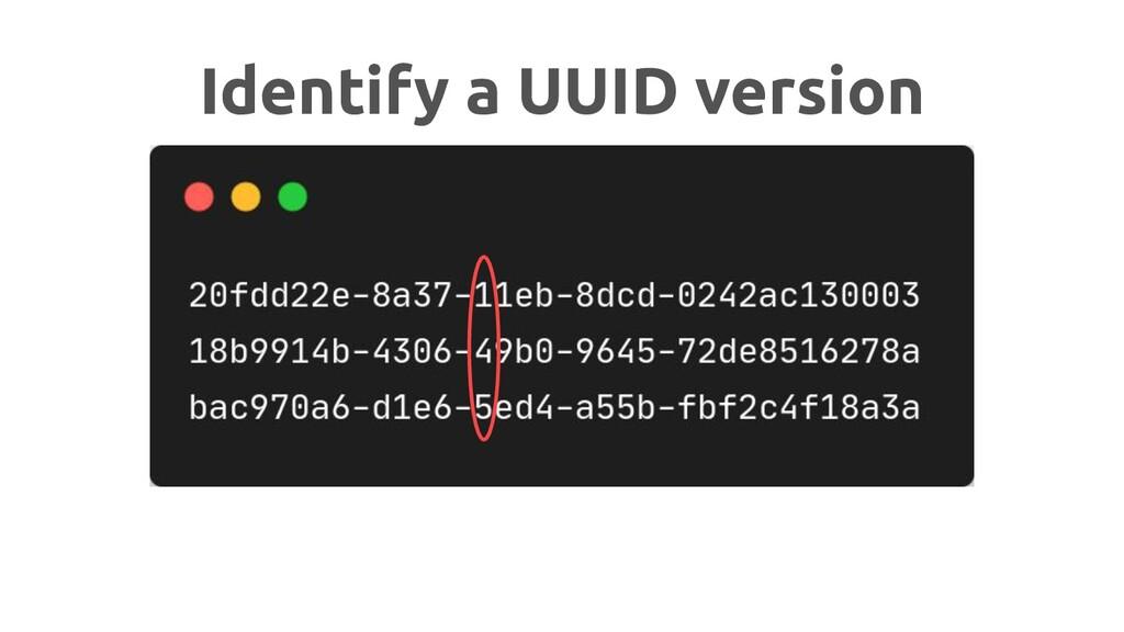 Identify a UUID version