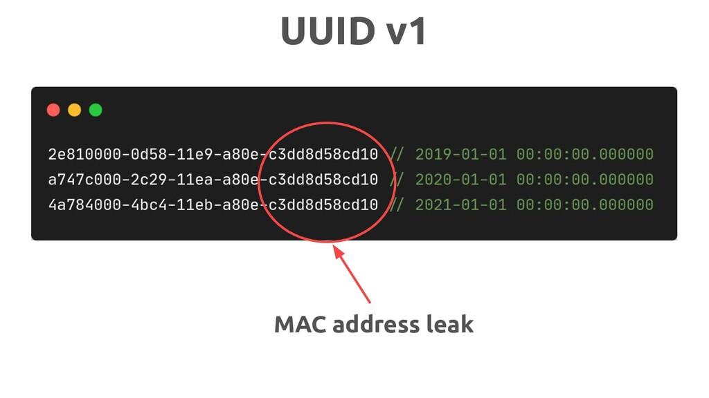 MAC address leak UUID v1