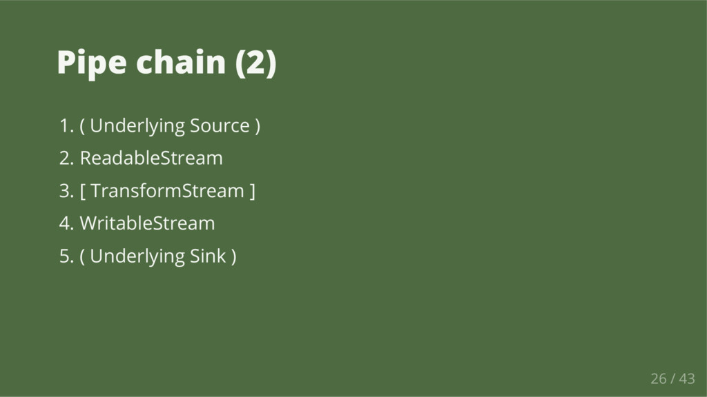 Pipe chain (2) 1. ( Underlying Source ) 2. Read...