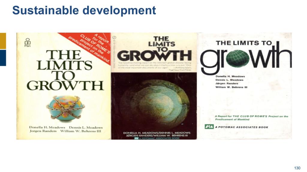 130 Sustainable development