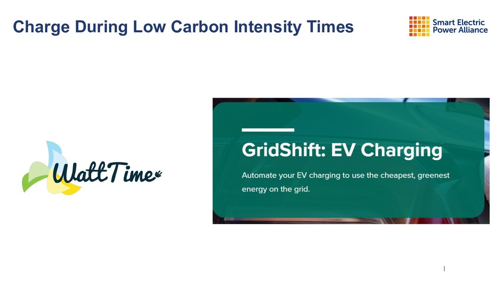 | Charge During Low Carbon Intensity Times