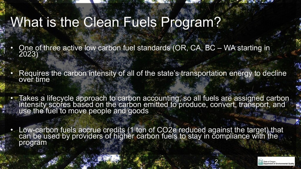 What is the Clean Fuels Program? • One of three...