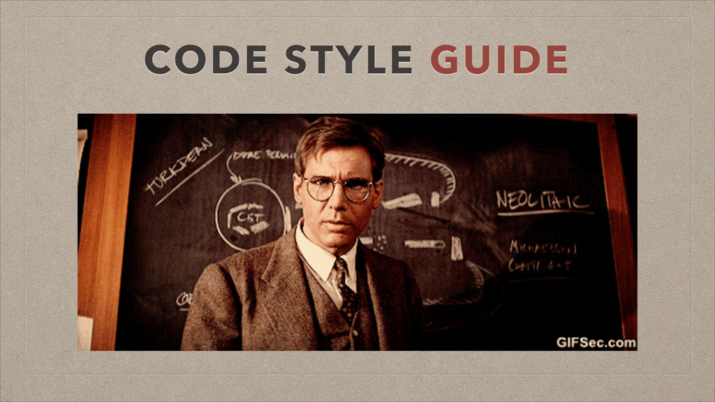 CODE STYLE GUIDE