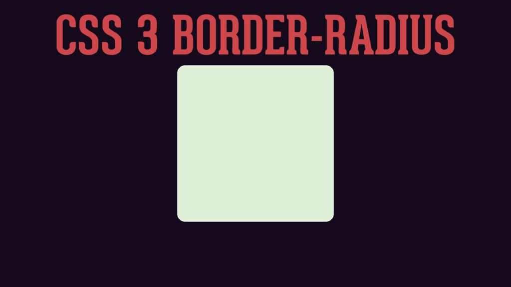 CSS 3 BORDER-RADIUS