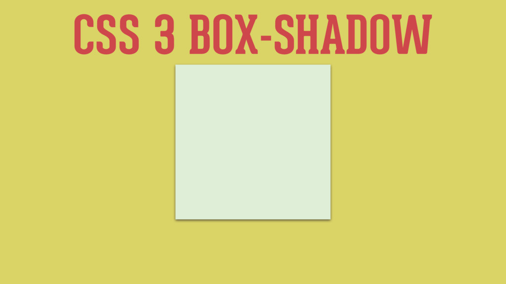 CSS 3 BOX-SHADOW