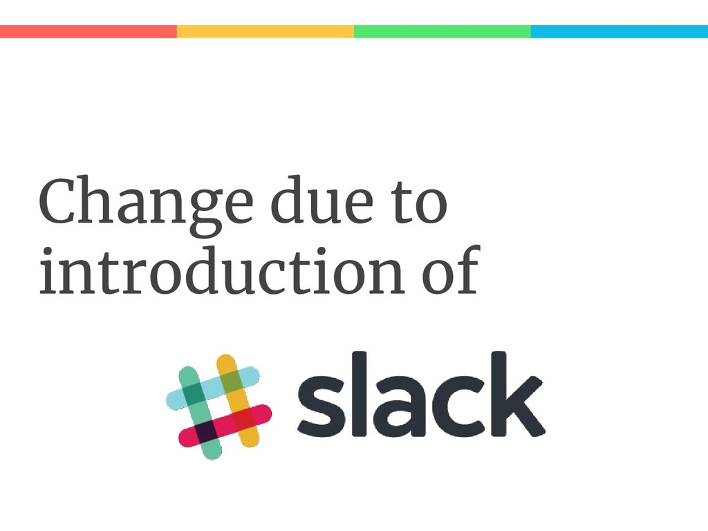 Change due to introduction of