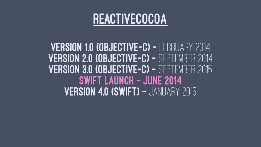 REACTIVECOCOA Version 1.0 (Objective-C) - Febru...