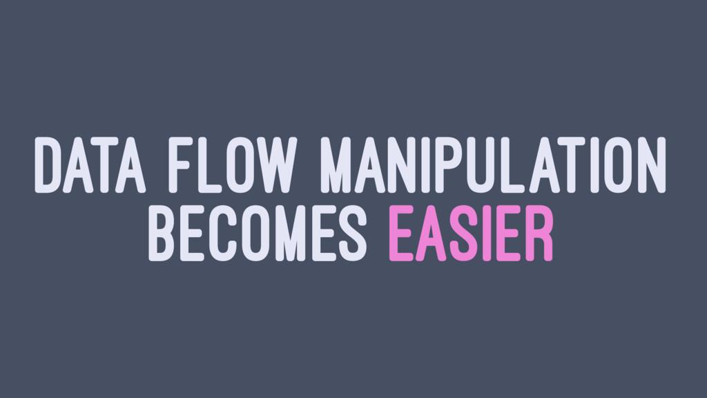 DATA FLOW MANIPULATION BECOMES EASIER