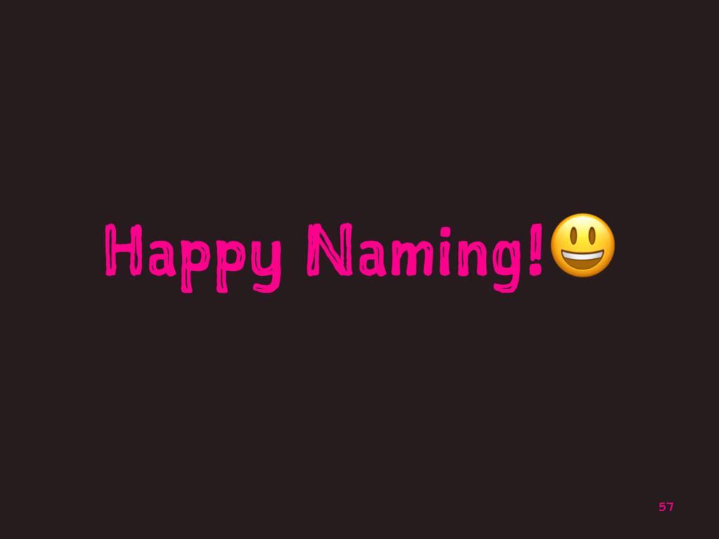 Happy Naming!! 57