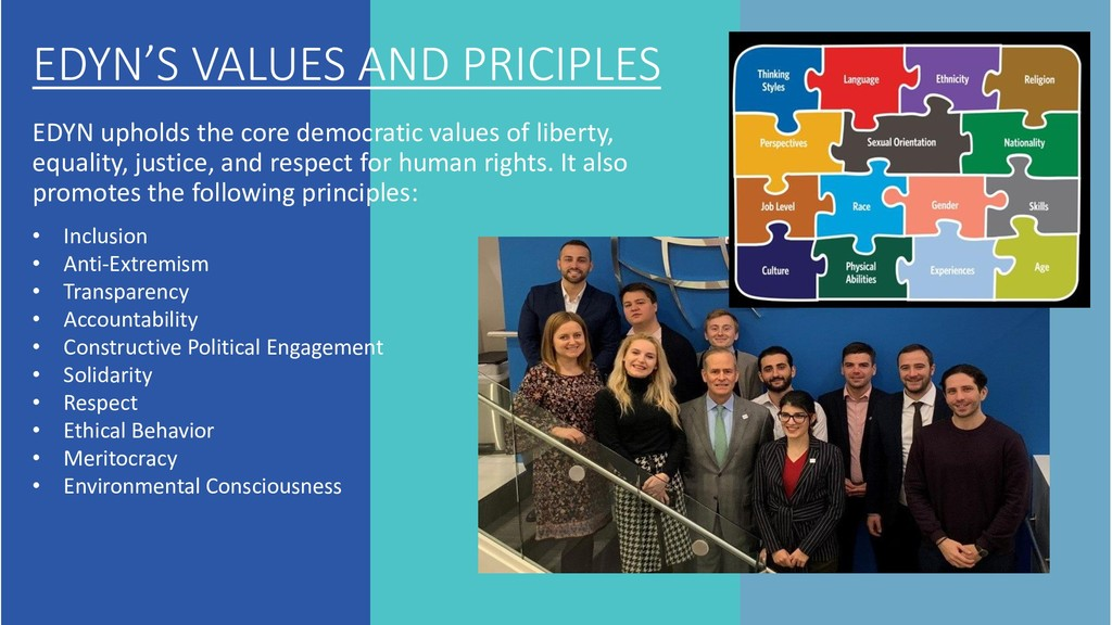 EDYN'S VALUES AND PRICIPLES EDYN upholds the co...