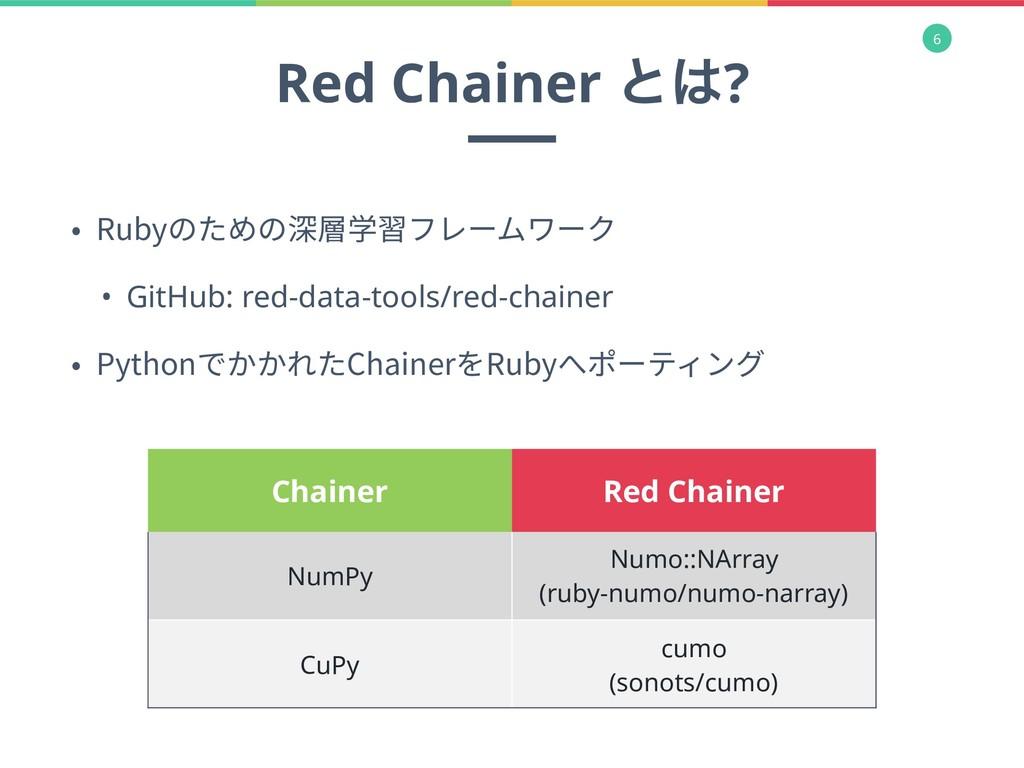 6 • Rubyのための深層学習フレームワーク • GitHub: red-data-tool...