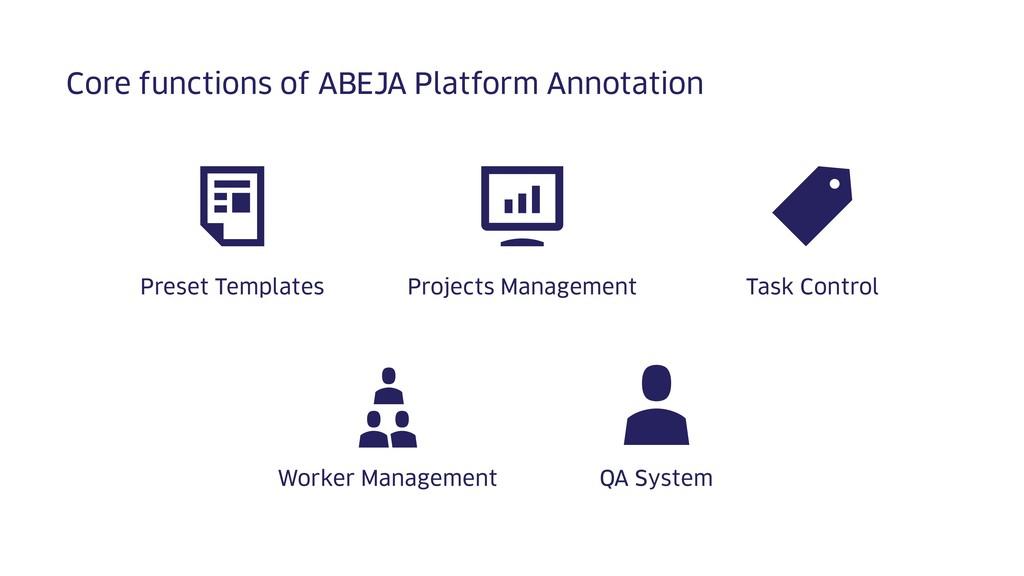 Core functions of ABEJA Platform Annotation Tas...