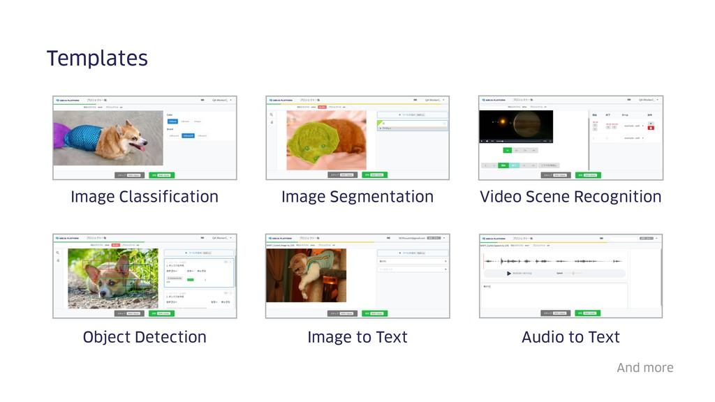 Templates Image Classification Image Segmentati...
