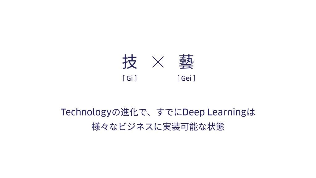 Technologyの進化で、すでにDeep Learningは 様々なビジネスに実装可能な状...