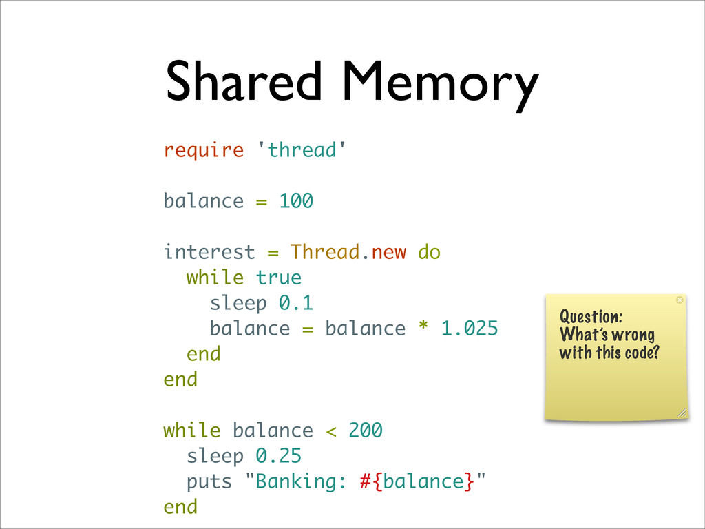 Shared Memory require 'thread' balance = 100 in...