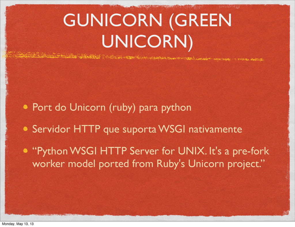 GUNICORN (GREEN UNICORN) Port do Unicorn (ruby)...