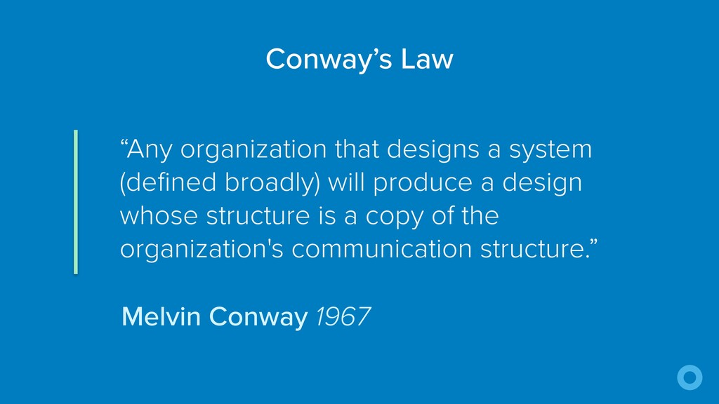 """Any organization that designs a system (define..."