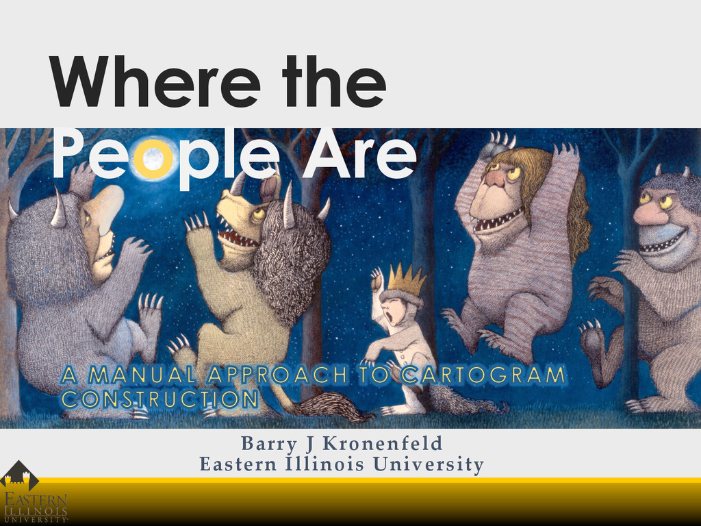 Where the People Are Barry J Kronenfeld Eas...