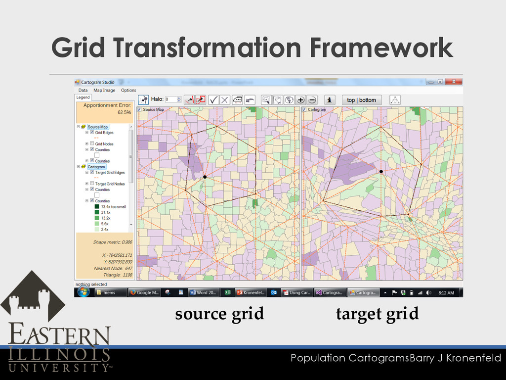 Population Cartograms Barry J Kronenfeld Grid T...