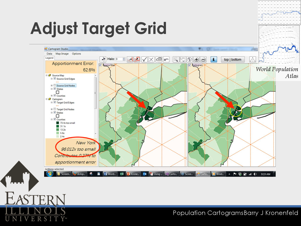 Population Cartograms Barry J Kronenfeld Adjust...