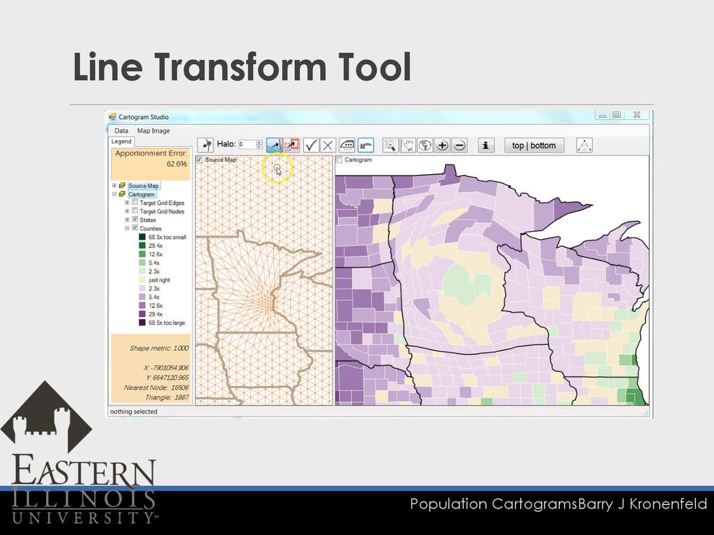 Population Cartograms Barry J Kronenfeld Line T...