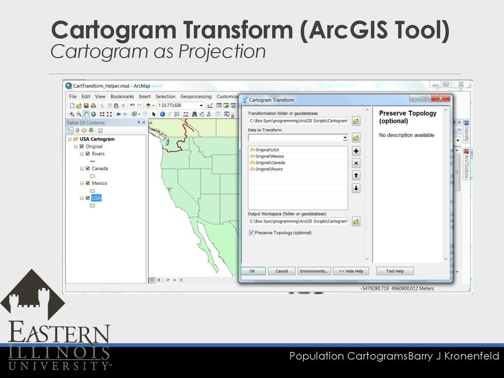 Population Cartograms Barry J Kronenfeld Cartog...