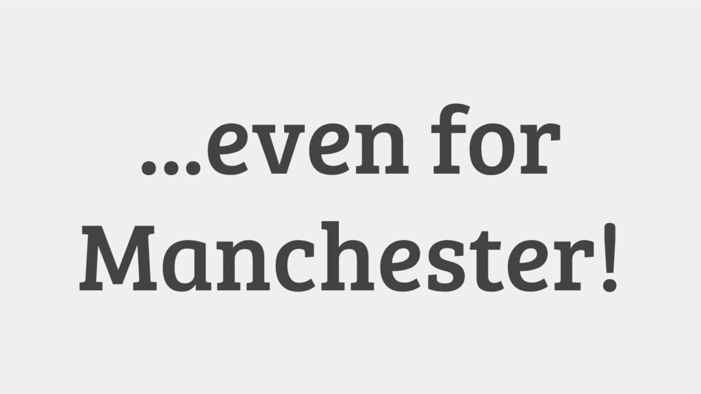...even for Manchester!